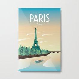 Paris travel poster Metal Print