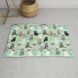 Cat easter bunny spring cute cat breeds cat lady kittens pattern Rug