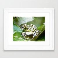 frog Framed Art Prints featuring frog by Karl-Heinz Lüpke