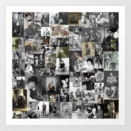 History of dogs in photos Art Print