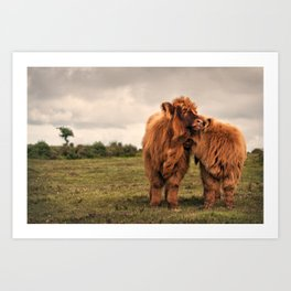 True love on the moo(rs) Art Print