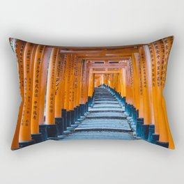 Fushimi Inari-taisha in Kyoto, Japan Rectangular Pillow
