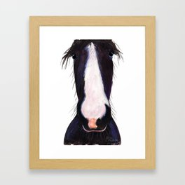 "Happy Horse "" JeFF ' by Shirley MacArthur Framed Art Print"