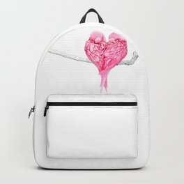Birds Love Pink Heart Backpack