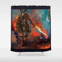iron man Shower Curtains featuring iron man by ururuty