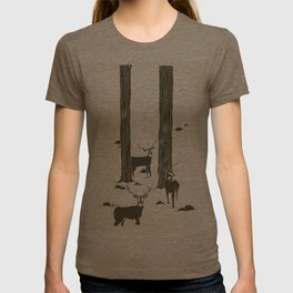 bucks in the snow T-shirt