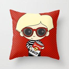 Little Artist 2 Throw Pillow