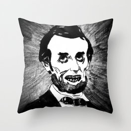 16. Zombie Abraham Lincoln  Throw Pillow