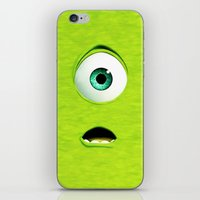 monster inc iPhone & iPod Skins featuring Monster Inc Mike by Veylow