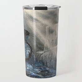 Spray Paint Waterfall Road to the Cross Travel Mug