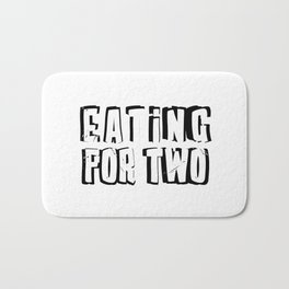 Eating for Two Bath Mat