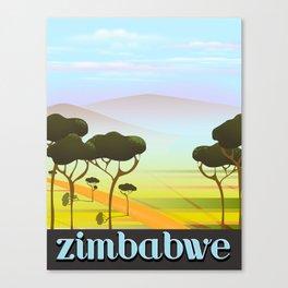 Zimbabwe landscape travel poster Canvas Print