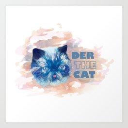 Derpy cat Art Print