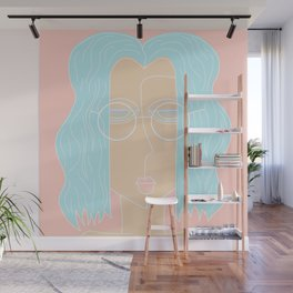 Lady blue Wall Mural