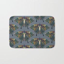 swallowtail butterfly indigo Bath Mat