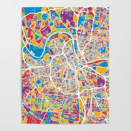Nashville Tennessee City Map Poster