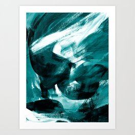 Abstract Artwork Petrol #1 Art Print