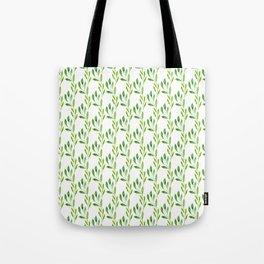 green watercolor vines Tote Bag