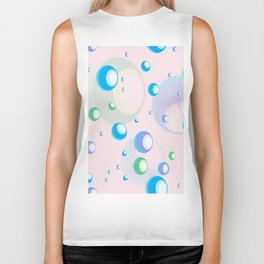 Bubble seamless pattern. Biker Tank