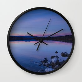 Pahranagat National Wildlife Refuge Sunset #1 Wall Clock