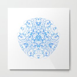 Mandala Trinity blue Metal Print