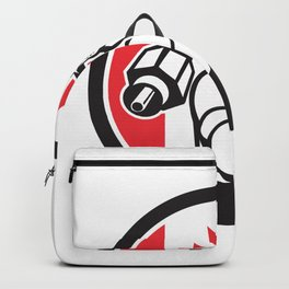 Canadian Cable Installer Canada Flag Icon Backpack