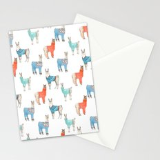Llamas with Jumpers Stationery Cards