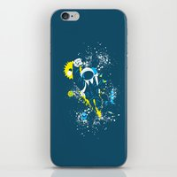 suit iPhone & iPod Skins featuring space suit by Jonah Makes Artstuff