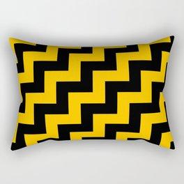 Black and Amber Orange Steps RTL Rectangular Pillow