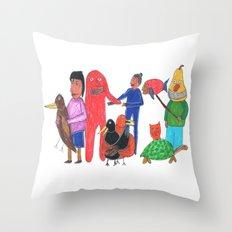 Furgly Throw Pillow