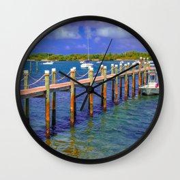 Boat Ramp To Paradise Wall Clock