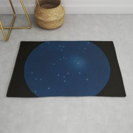 Celestial map representing the visible constellations in France - R. Barbot - 1874 Rug