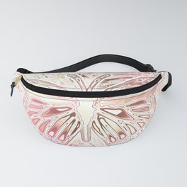 Monarch Butterfly In Pastel Pink Fanny Pack