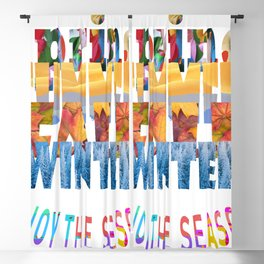 Enjoy The Seasons Summer, Fall, Winter, Spring Blackout Curtain