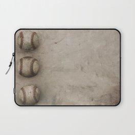 Baseballs on Sports Grunge Background Laptop Sleeve