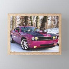 Fuchsia Panther Pink Limited Edition Hurst Challenger RT Framed Mini Art Print