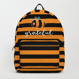 Be (Bee) Grateful Cute Funny Gift Women Men Boys Girls Kids Backpack