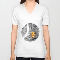 squirrel V-neck T-shirts featuring Squirrel by Natalie Berman