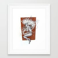 third eye Framed Art Prints featuring Third Eye by Beatrice Huxley