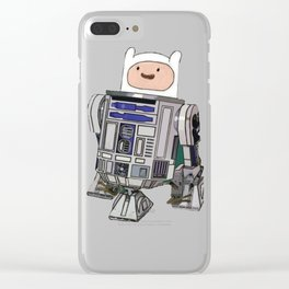 Fin2-D2 Clear iPhone Case