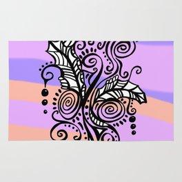 Freestyle Doodle Marker Design - Purple Peach Rug