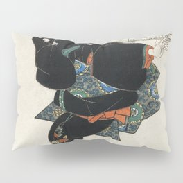 Ichi by Utagawa Kuniyoshi (1753-1806) a traditional Japanese ukiyo-e style  of a traditional Japanes Pillow Sham