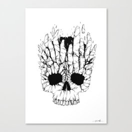 Skull Destroy Canvas Print