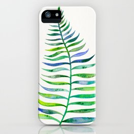 Palm Leaf – Green Palette iPhone Case