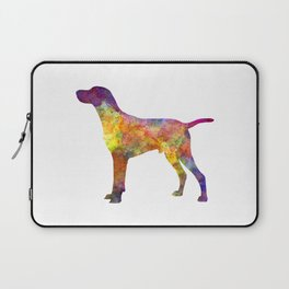 Hungarian Shorthaired Pointer in watercolor Laptop Sleeve