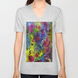 Spring Time Painting  Unisex V-Neck