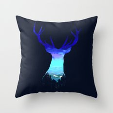 Deer Country Throw Pillow