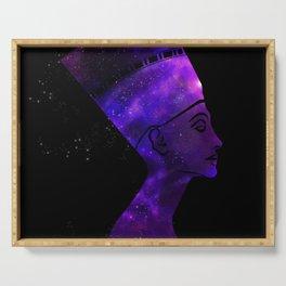 Queen Nefertiti Nebula Dark Stardust Serving Tray