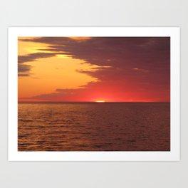 Sunset on Lake Superior Art Print