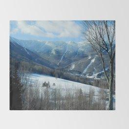 Ski Trails at Sugarbush Resort, Vermont Throw Blanket